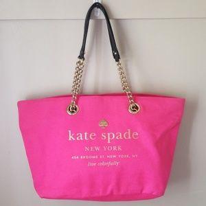 Kate spade large tote purse hot pink